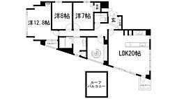 ロイヤルグラン池田[6階]の間取り