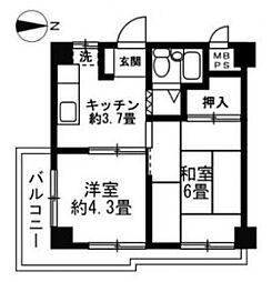 レジデンスピア[2階]の間取り