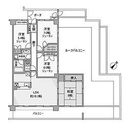 藤和ライブタウン緑山弐番館[3階]の間取り