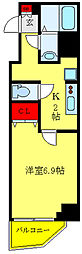 都営三田線 西巣鴨駅 徒歩8分の賃貸マンション 8階1Kの間取り