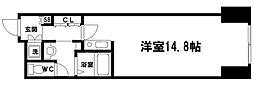 大阪ベイタワーレジデンス 29階ワンルームの間取り