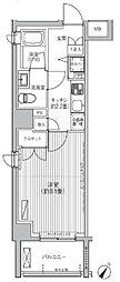 東京メトロ千代田線 赤坂駅 徒歩6分の賃貸マンション 5階1Kの間取り