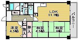 大阪府高石市東羽衣2丁目の賃貸マンションの間取り