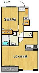 ピアッツア羽倉崎[1階]の間取り