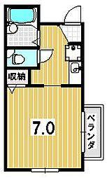 ヴィヨーム京都御所東[301号室]の間取り