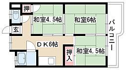 マンション松田[4E号室]の間取り