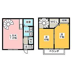 [テラスハウス] 愛知県北名古屋市六ツ師町田 の賃貸【/】の間取り