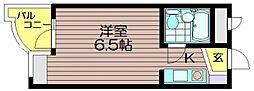 グレース成城[2階]の間取り