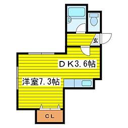 北海道札幌市東区北十七条東13丁目の賃貸マンションの間取り