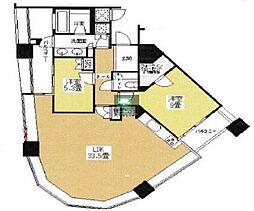 パークコート赤坂 ザ タワー 31階2LDKの間取り