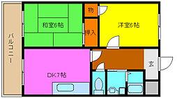 グランドメゾン浅田II[1階]の間取り