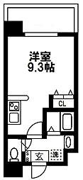 (仮称)都島本通4丁目新築マンション 5階ワンルームの間取り