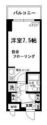 ホーユウリレント弘明寺第二[4階]の間取り