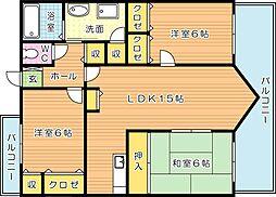 エクレール浅川II[4階]の間取り
