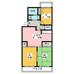 プレステージ浦和 3階3LDKの間取り