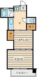 神奈川県横浜市神奈川区鶴屋町2丁目の賃貸マンションの間取り