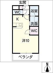 メゾンドヴェールII[1階]の間取り