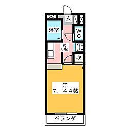 UrbanCourt野口[2階]の間取り