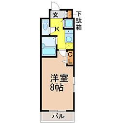 愛知県名古屋市昭和区広路通2丁目の賃貸マンションの間取り