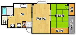 兵庫県神戸市兵庫区水木通4丁目の賃貸マンションの間取り