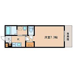 奈良県奈良市三条町の賃貸アパートの間取り