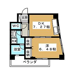 エクセルコート京都五条坂[5階]の間取り