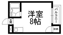 ロータリーM西三荘[0401号室]の間取り