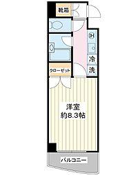 レイモンド北栄[4階]の間取り