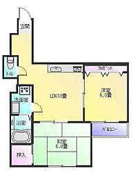 サンピアハイツ3[1階]の間取り