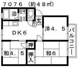 ファミール林[B103号室号室]の間取り