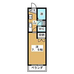 ユージックス伝馬[2階]の間取り