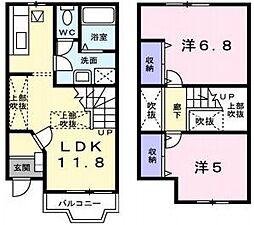 [テラスハウス] 兵庫県神戸市垂水区美山台2丁目 の賃貸【/】の間取り