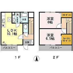 ソレアード・ミナミダII[1階]の間取り