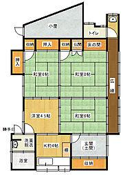 [一戸建] 福岡県大牟田市神田町 の賃貸【/】の間取り