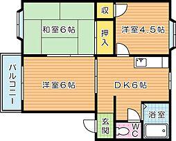 ドミールTAKAMI[2階]の間取り
