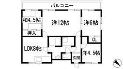 いなぱれす宝塚[4階]の間取り