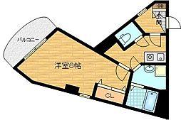 SHUNWA I 3階1Kの間取り
