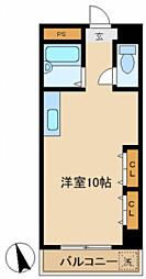 三洋キャッスルハイツ bt[813kk号室]の間取り