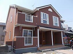 愛知県岡崎市矢作町字北河原の賃貸アパートの外観