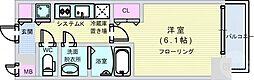Osaka Metro谷町線 谷町九丁目駅 徒歩5分の賃貸マンション 8階1Kの間取り