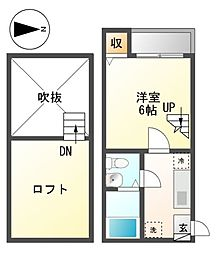 ネスト栄生[2階]の間取り