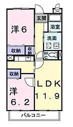 マウントリヴァ2001[2階]の間取り