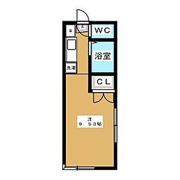 クレセント萩野町[3階]の間取り