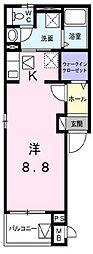 鷹匠町アパート2[1階]の間取り