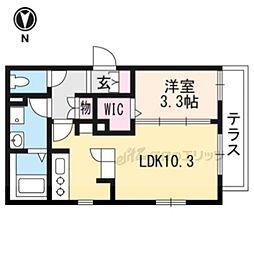 近鉄京都線 上鳥羽口駅 徒歩14分の賃貸アパート