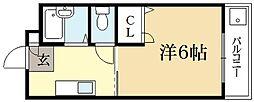 ハイツ北泉[1階]の間取り