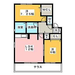 アンビション開明[1階]の間取り