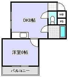 コーポ赤塚[3階]の間取り