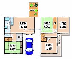 [一戸建] 大阪府八尾市北本町4丁目 の賃貸【/】の間取り