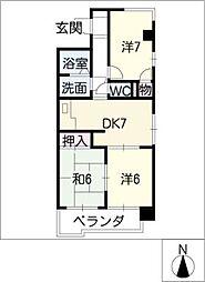 徳川町レジデンス[3階]の間取り